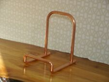 """Copper Vinyl 7""""12"""" LP Record Stand Industrial Storage Holder Pipe Made in the UK"""