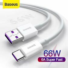 Baseus 66W USB a de tipo C Cargador Cable 6A plomo de carga rápida para Samsung Huawei