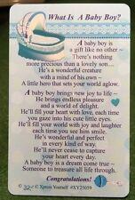 WHAT IS A BABY BOY PURSE WALLET KEEPSAKE VERSE PRAYER CARD