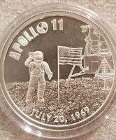 1 oz .999 silver Apollo 11 moon landing Armstrong JFK NASA Kennedy 50th Mankind