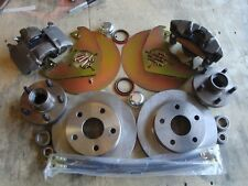 "1970 1971 1972 1973 FORD MUSTANG FRONT DISC BRAKES 5 LUG FITS ORIG 14"" WHEELS"
