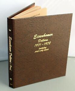 1971-1978 Eisenhower Dollars Collectors Book Full  $1 Coins Including Proof