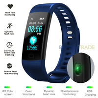 Fitness Tracker Waterproof Wristband Blood Pressure Heart Rate Monitor Watch