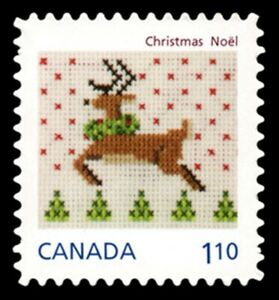 Canada   # 2690i    CHRISTMAS - REINDEER     Brand New 2013  Die Cut Q-Pac Issue