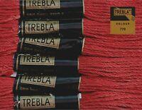 Mahogany 770-6 Skeins x 8 Metres Colourfast Cotton Trebla Embroidery Thread