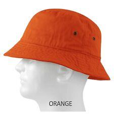 MEN 100% COTTON FISHING BUCKET HAT CAP SUN BOONIE SUMMER BRIM VISOR