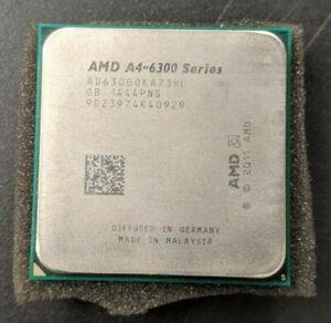 AMD A4-6300 3.70GHz Socket FM2 AD630B0KA23HL Processor CPU TESTED // WARRANTY