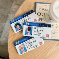 My Hero Academia Midoriya Case iPhone 7 8 11 Pro XS XR Newest Japan Anime Naruto