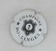 capsule champagne BOLLINGER lettres fines n°27 blanc