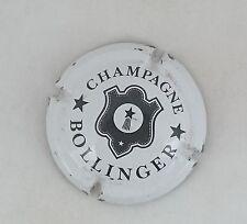 capsule champagne BOLLINGER lettres fines n°27 blanc