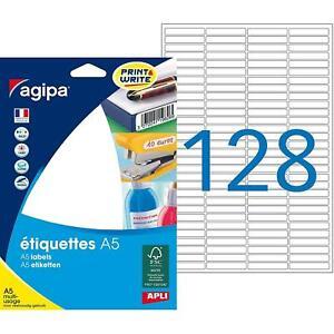 [Ref:114089] AGIPA Etui A5 ( 16F ) de 2048 étiquettes multi-usage Permanentes