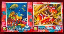 Puzzlebug 100 Pieces Puzzle Duo: Coral Reef ~ Pretty Clownfish Ages 6+ NIB