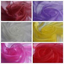 Plain Organza (Voile) Fabric - Weddings - Events (Per Metre) - Various Colours