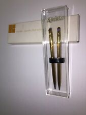 Vintage Kreisler Pepsi-Advertising Mechanical Pencil & Pen Set Gold Plated w/BOX