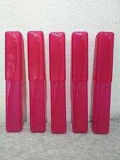 5 Red Plastic Travel Toothbrush Holder Bathroom Tube Cover Case Camping F1