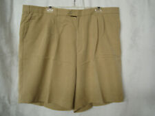 BOBBY JONES Pleated Front Poly Blend Golf Walk Casual Shorts Size 44-Pre-owned