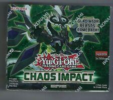 Yugioh Chaos Impact Booster Box 1st edición de fábrica sellada 24 Packs/9 Tarjetas