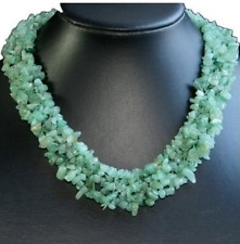 Natural Fresh Green Aventurine Chips Thick Necklace Bib Statement Body Chain New