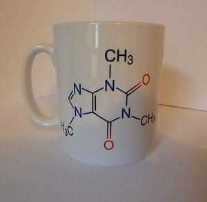 Caffeine Molecule Coffee Gift Cup Mug Present Science Teacher Student Chemistry