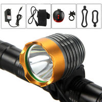 5000LM XM-L T6 LED Rechargeable Front Bike Bicycle Lamp Light 4x18650 Battery