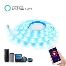 5M Smart Wifi RGB LED Strip Lights XMAS Kitchen Cabinet Ceiling For Alexa