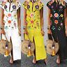 ZANZEA UK Womens Summer Short Sleeve Casual Loose Kaftan Dress Long Maxi Dresses
