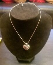 Necklace (Lot 2) Silver Metal Hollow Heart