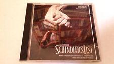 "ORIGINAL SOUNDTRACK ""SCHINDLER'S LIST"" CD 14 TRACK JOHN WILLIAMS BANDA SONORA"