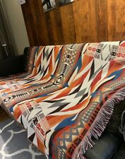 Large-XL Indian Navajo Tribe Cotton Throw Blanket Sofa Cover Picnic Rug Tapestry