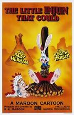 Who framed Roger Rabbit Movie Poster Little Injun That Could 24x36
