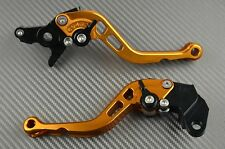 Paire de levier leviers levers court short CNC Orange Honda XR 650 2000-2003