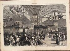 1876 Two Engravings - Centennial Exposition, Philadelphia - Principal Buildings
