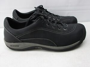 KEEN PRESIDIO II #1018314 WOMEN'S BLACK LEATHER SPORTY LACE UP OXFORDS SHOES  12
