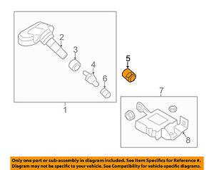HYUNDAI OEM 11-15 Sonata TPMS Tire Pressure Monitor-Sensor Nut 529341J000