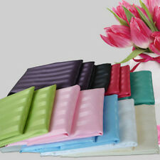 CLEARANCE WHITE Satin Stripe Shower Curtain Free Shipping