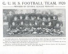 1920--GLENDALE (CAL.) HS FOOTBALL PHOTO--BABE HERMAN (BROOKLYN DODGERS)--XLNT