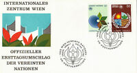 UNITED NATIONS 1982 HUMAN ENVIRONMENT FIRST DAY COVER VIENNA SHS