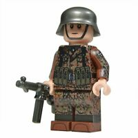 Lego Custom WW2 Soldier in Autumn Dot 44 Camo minifigure - Full Printing MP40