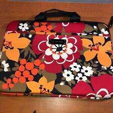 Vera Bradley Bittersweet laptop SLEEVE Case bag retired zip with handles