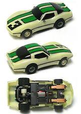 1984 TYCO HO '79 Chevy Corvette NITEGLOW Slot Car 440 Magnum Cliff Hanger 6220