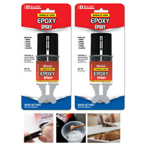 2 Pk Epoxy Quick Adhesive Glue Sets In 5 Minutes Wood Metal Glass Stone Plastic