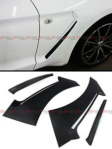 For 2015-2020 Ford Mustang GT Style Front Fender Flare Side Panel Scoops Vents