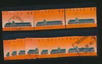 McAdam Train Station 1989 Canada 1182  $2.00 Val Wholesale LOT of 10 stamps used