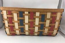 Longaberger Xl X Large Rectangle Storage Basket Colored Weaves