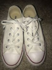 Converse All Star Girl Size 3 Eur 35 Junior White Low Top Sneakers Tennis Shoes