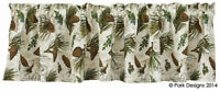 "Walk in the Woods Valance 72"" x 14"" Kitchen Cabin Lodge Park Designs Pine Boughs"