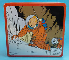 Box metal Tintin and Snowy destination moon New collectible