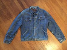 RARE VTG WRANGLER BLUE BELL SANFORIZED JACKET WESTERN L MEN SPORT DENIM 50S 60S