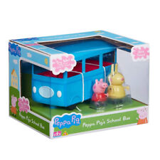 New Peppa Pig School Bus With Sound & Figures