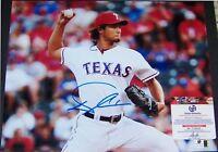 SUPER SALE! Yu Darvish Signed Autographed 11x14 Baseball Photo GA GV GAI COA!